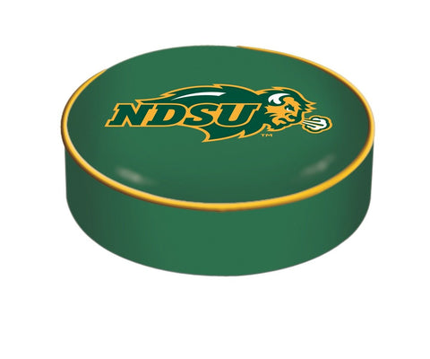 North Dakota State Bison HBS Green Vinyl Slip Over Bar Stool Seat Cushion Cover