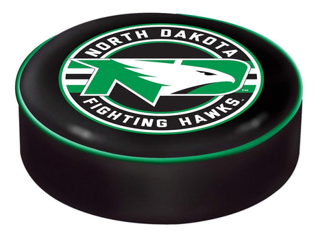 North Dakota Fighting Hawks HBS Black Slip Over Bar Stool Seat Cushion Cover - Sporting Up