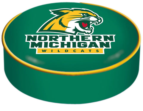Northern Michigan Wildcats HBS Green Slip Over Bar Stool Seat Cushion Cover