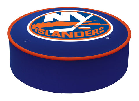 Shop New York Islanders HBS Blue Vinyl Elastic Slip Over Bar Stool Seat Cushion Cover - Sporting Up