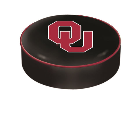 Oklahoma Sooners HBS Black Vinyl Elastic Slip Over Bar Stool Seat Cushion Cover