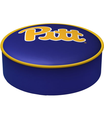 Shop Pittsburgh Panthers HBS Navy Vinyl Slip Over Bar Stool Seat Cushion Cover - Sporting Up