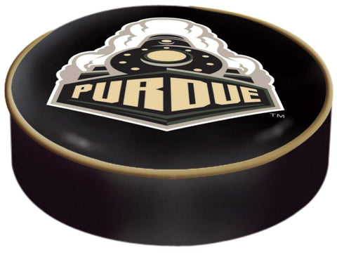 Purdue Boilermakers HBS Black Vinyl Slip Over Bar Stool Seat Cushion Cover