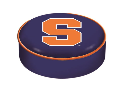Syracuse Orange HBS Navy Vinyl Elastic Slip Over Bar Stool Seat Cushion Cover