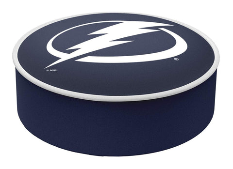 Shop Tampa Bay Lightning HBS Navy Vinyl Slip Over Bar Stool Seat Cushion Cover - Sporting Up