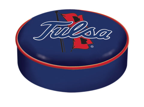 Tulsa Golden Hurricane HBS Navy Vinyl Slip Over Bar Stool Seat Cushion Cover