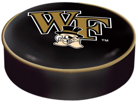 Wake Forest Demon Deacons HBS Black Vinyl Slip Over Bar Stool Seat Cushion Cover