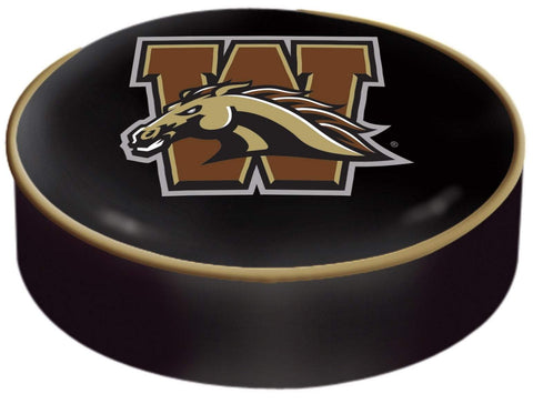 Western Michigan Broncos HBS Black Slip Over Bar Stool Seat Cushion Cover