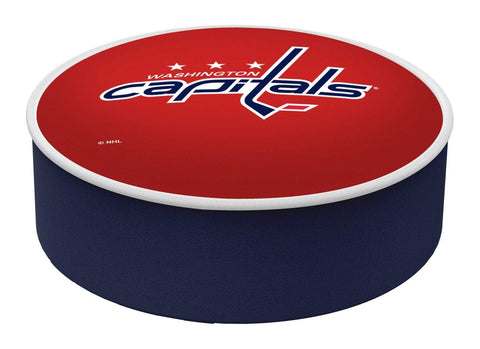 Washington Capitals HBS Red Vinyl Elastic Slip Over Bar Stool Seat Cushion Cover