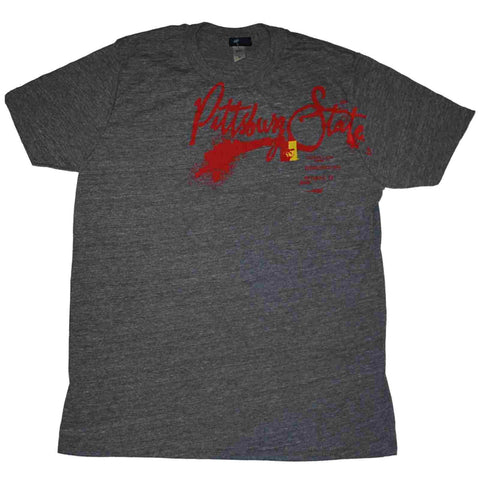 Pittsburg State Gorillas Step Ahead Grey Red T-Shirt (M)