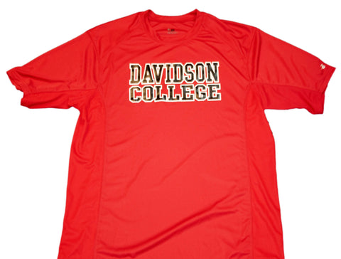 Davidson Wildcats Badger Sport Red 100% Polyester Performance T-Shirt (L)