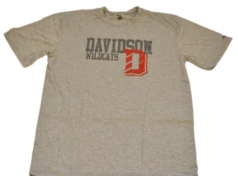 Davidson Wildcats Badger Sport Performance Polyester Gray T-Shirt (L)