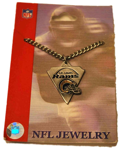 Shop St. Louis Rams Siskiyou Gray Triangular Pointed Carved Charm Necklace