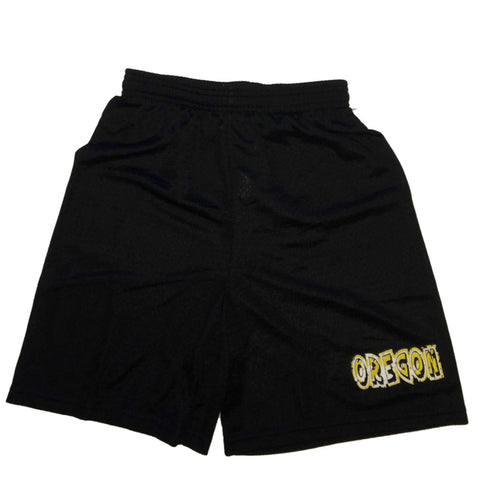 Oregon Ducks Badger Sport YOUTH Black Mesh Drawstring Athletic Shorts (M)