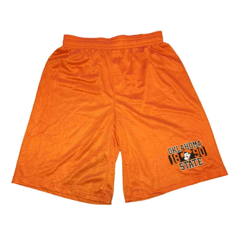 Oklahoma State Cowboys Badger Sport Orange Mesh Drawstring Athletic Shorts (M)
