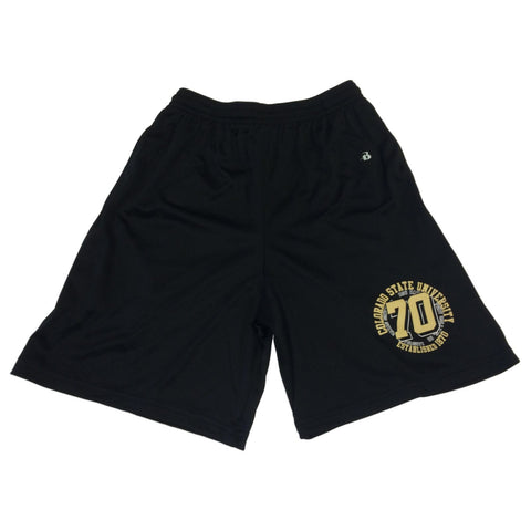 Colorado State Rams Badger Sport YOUTH Black Drawstring Athletic Shorts (M)