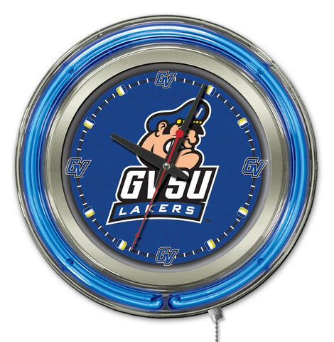 "Grand Valley State Lakers HBS Neon Blue College Battery Powered Wall Clock (15"")"