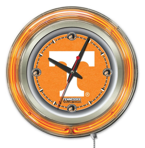 "Tennessee Volunteers HBS Neon Orange College Battery Powered Wall Clock (15"")"