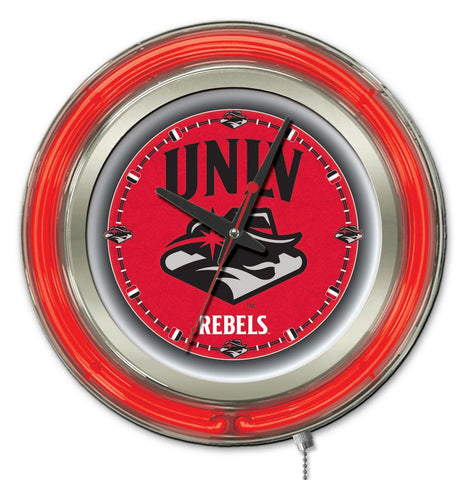 "Shop UNLV Rebels HBS Neon Red College Battery Powered Wall Clock (15"") - Sporting Up"