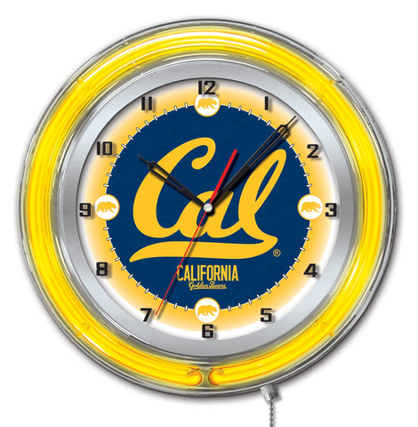 "California Golden Bears HBS Neon Yellow College Battery Powered Wall Clock (19"")"