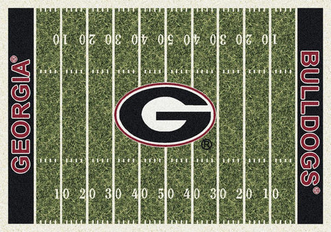 Georgia Bulldogs Milliken Football Home Field Novelty Area Rug