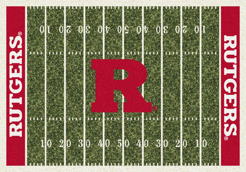 Rutgers Scarlet Knights Milliken Football Home Field Novelty Area Rug