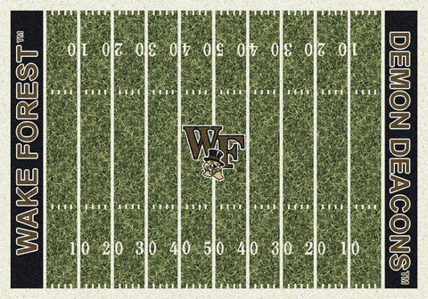 Wake Forest Demon Deacons Milliken Football Home Field Novelty Area Rug - Sporting Up