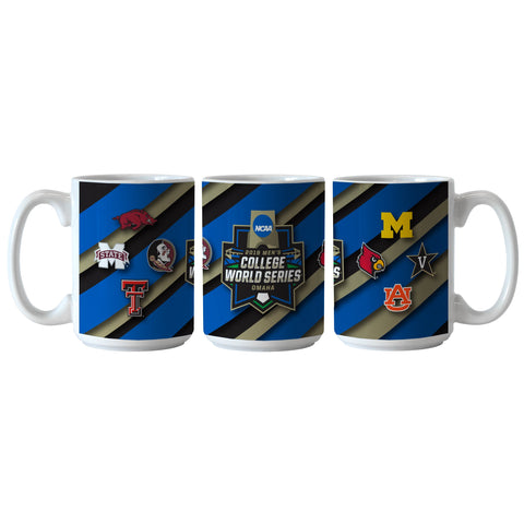 2019 NCAA Men's College World Series CWS 8 Team Ceramic Coffee Mug Cup (15oz)