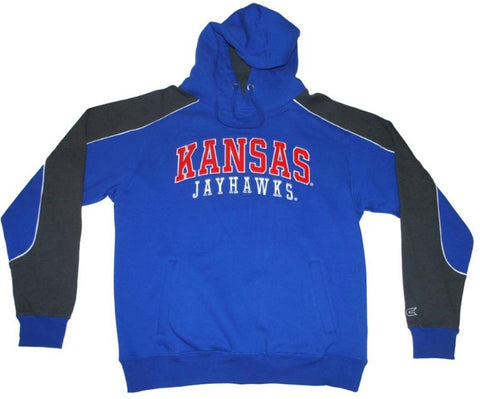 Shop Kansas Jayhawks Colosseum Blue Gray Embroidered Logos Hoodie Sweatshirt (L) - Sporting Up