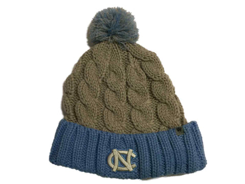 UNC Tar Heels TOW Gray & Blue Acrylic Knit Cuffed Beanie Hat Cap with Poof Ball