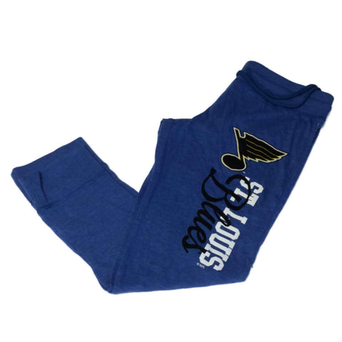 Shop St. Louis Blues SAAG WOMENS Blue Lightweight Cuffed Capri Sweatpants (S)