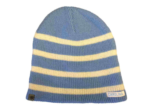 North Carolina Tar Heels TOW WOMENS Blue Striped Sparkle Skull Beanie Hat Cap