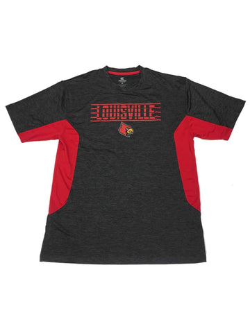 Louisville Cardinals Colosseum Charcoal Gray Static Performance SS T-Shirt (L)