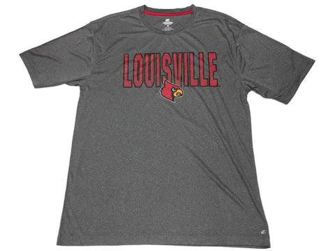 Shop Louisville Cardinals Colosseum Gray Performance Short Sleeve Crew T-Shirt (L)