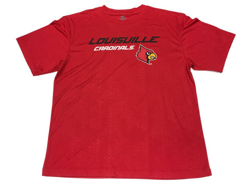 Louisville Cadinals Colosseum Red Performance Short Sleeve Crew T-Shirt (L)