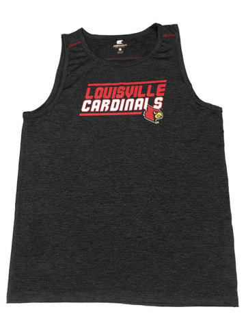 Louisville Cardinals Colosseum Charcoal Gray Performance Sleeveless Tank Top (L)