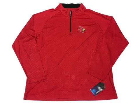Shop Louisville Cardinals Colosseum Red Performance 1/4 Zip Long Sleeve Pullover (L) - Sporting Up