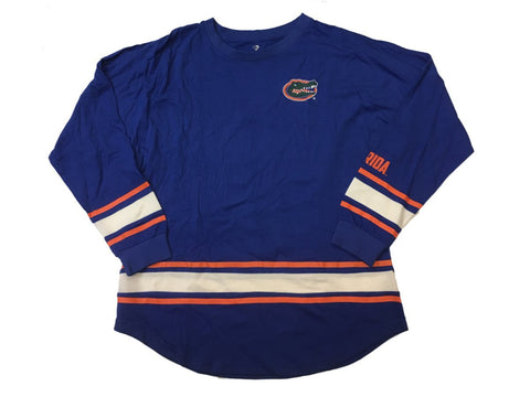 Shop Florida Gators Colosseum WOMEN'S Blue Striped Cotton Long Sleeve T-Shirt (M)