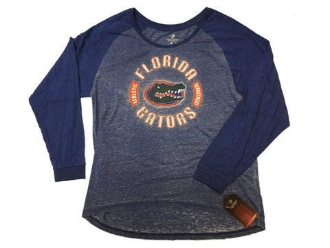 Shop Florida Gators Colosseum WOMEN Two-Tone Blue Ultra Soft Long Sleeve T-Shirt (M) - Sporting Up