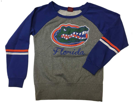 Shop Florida Gators Colosseum WOMEN Gray & Blue Rhinestone Long Sleeve Sweatshirt (M) - Sporting Up