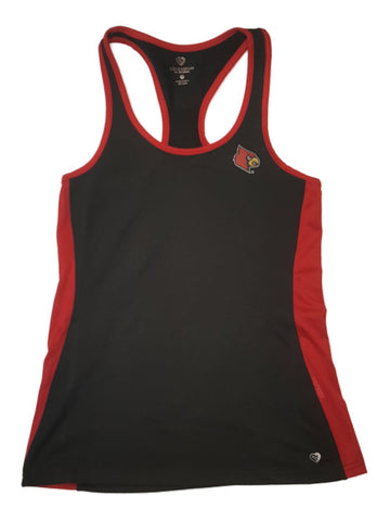 Shop Louisville Cardinals Colosseum WOMEN'S Black with Red Mesh Workout Tank Top (M)
