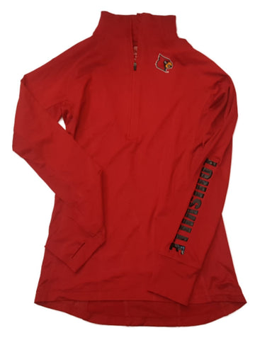 Shop Louisville Cardinals Colosseum WOMEN'S Red 1/2 Zip Performance Pullover (M) - Sporting Up
