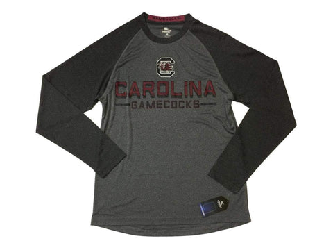 Shop South Carolina Gamecocks Colosseum Two-Tone Gray Performance LS T-Shirt (L)