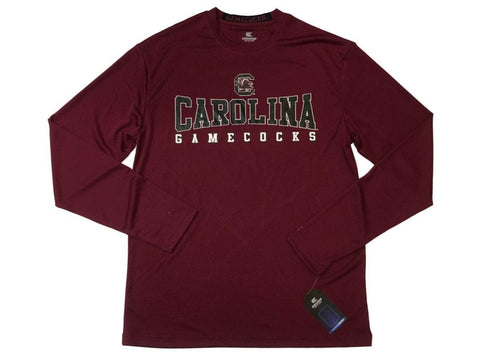 Shop South Carolina Gamecocks Colosseum Garnet Performance Mesh LS T-Shirt (L) - Sporting Up
