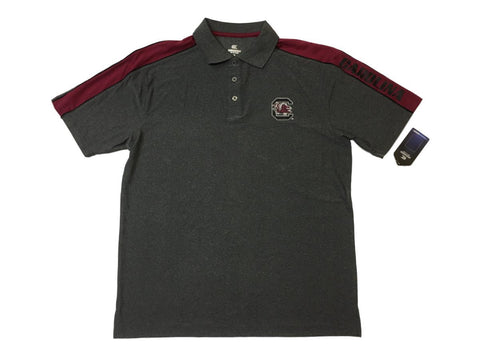 Shop South Carolina Gamecocks Colosseum Gray & Garnet Performance SS Golf Polo (L)
