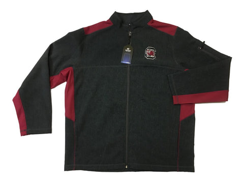 Shop South Carolina Gamecocks Colosseum Gray Full Zip Performance Collared Jacket (L)