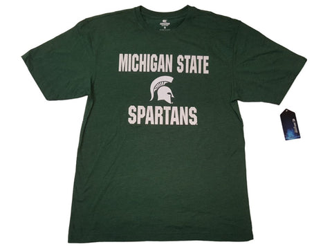 Shop Michigan State Spartans Colosseum Green Textured Logo Short Sleeve T-Shirt (L)