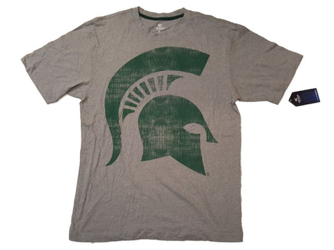 Shop Michigan State Spartans Colosseum Heather Gray Short Sleeve Crew T-Shirt (L)
