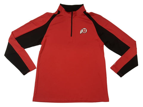 Shop Utah Utes Colosseum Red 1/4 Zip Performance Long Sleeve Collared Pullover (L)