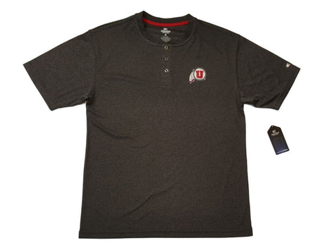 Shop Utah Utes Colosseum Gray 3 Button Placket Performance Short Sleeve T-Shirt (L)